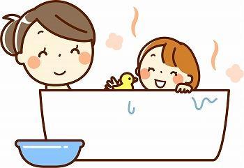 暖かくて快適なお風呂イラスト