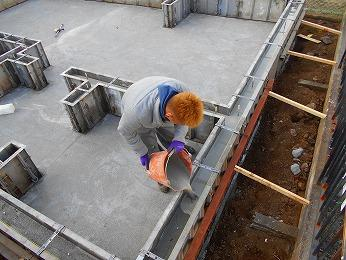 新築基礎立上りコンクリートレベラー