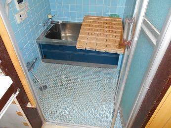 築35年在来浴室ステンレス浴槽
