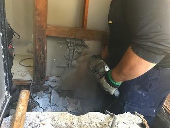 築35年浴室改装風呂場解体