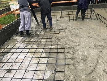 所沢市新築基礎耐圧コンクリート打設