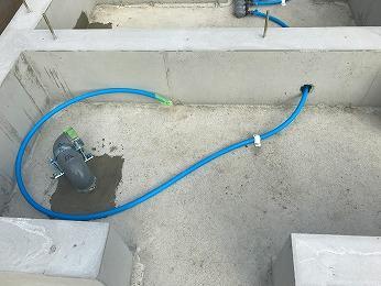 所沢市新築工事宅内配管排水立上り