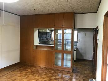 キッチン食器棚キッチン側リビング側リバーシブルタイプ
