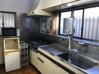 築35年キッチン ステンレス