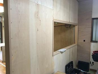 LDKキッチン間仕切り壁