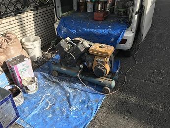吹付け塗装コンプレッサー