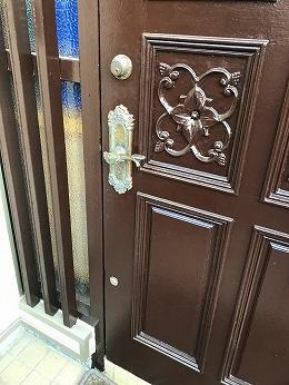 築45年木製玄関ドア