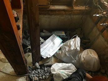 所沢市浴室解体ガラ