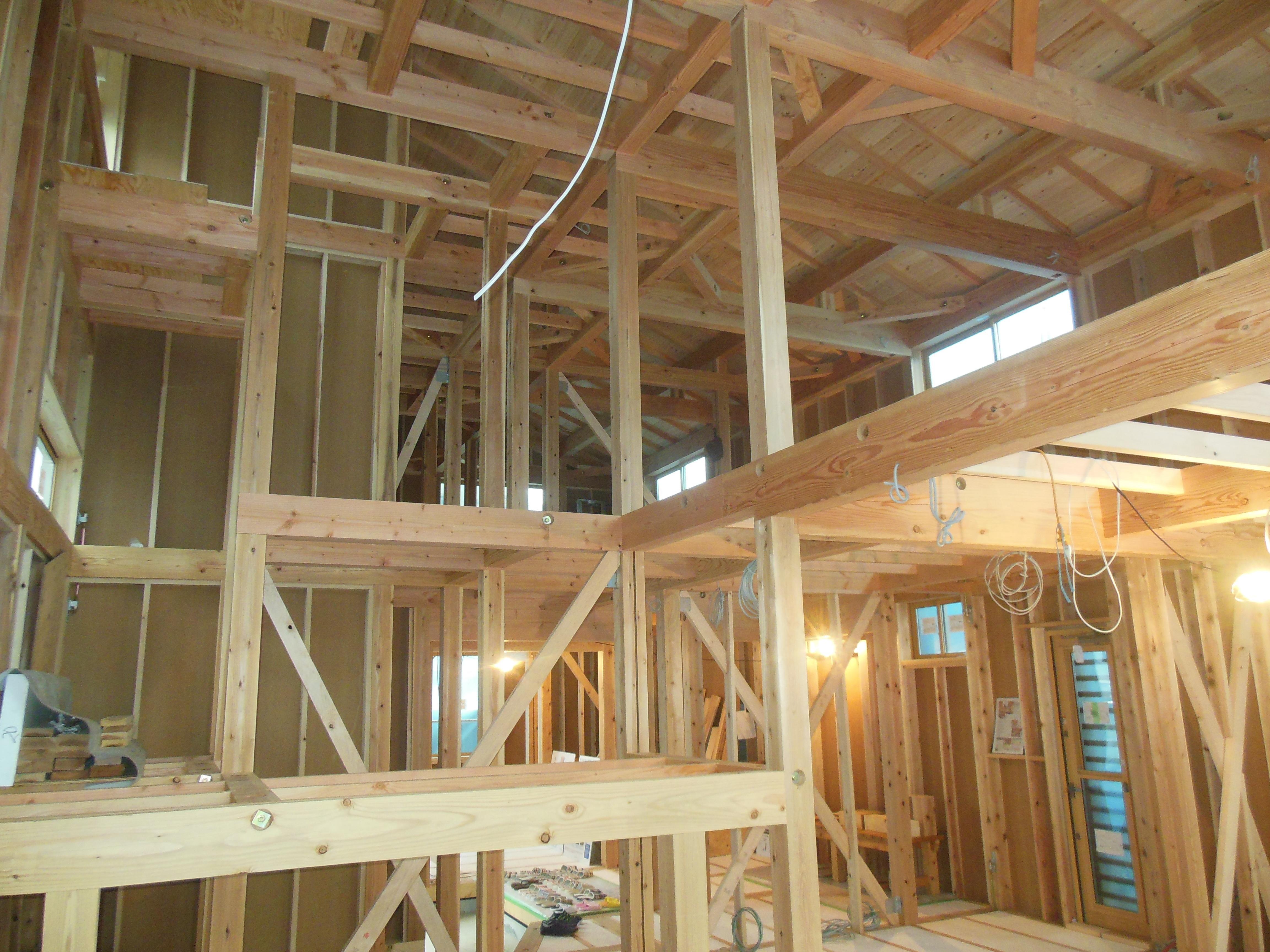 天然木の健康住宅 構造見学会