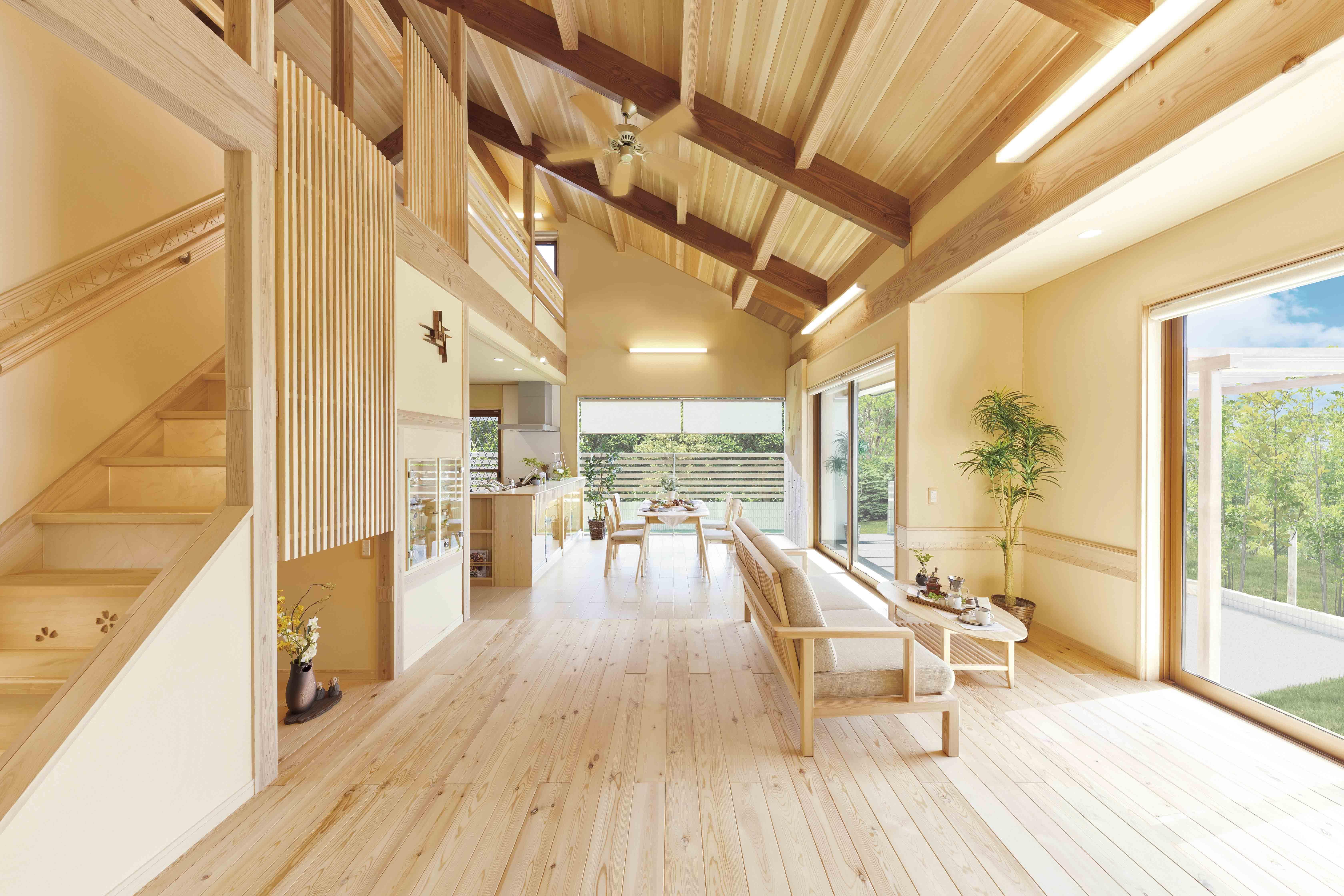 天然木・自然素材の家 構造見学会開催(予約制)
