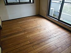 天然木リフォーム 赤松床板