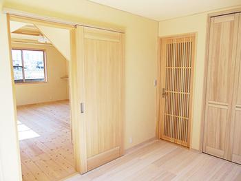 自然素材リフォーム 洋室