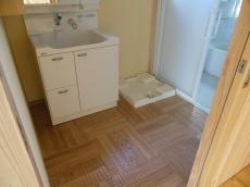 天然木自然素材の家洗面脱衣室