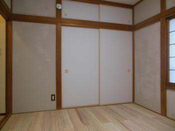 和室リフォーム シラス塗り壁