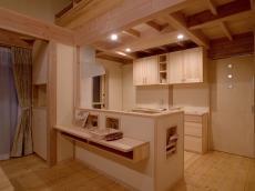 天然無垢の家キッチン