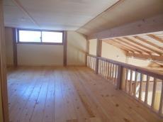 天然木の家ロフト床板