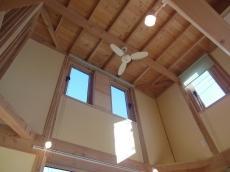天然目の家、吹き抜け天井