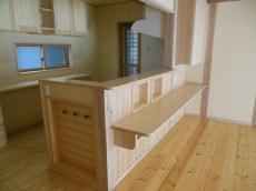 天然木の家キッチンカウンター