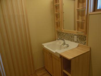 天然木リフォーム 洗面脱衣室