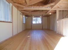 天然木の家、2階フリースペース