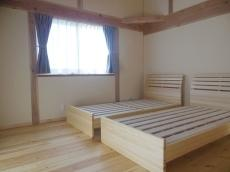 天然木自然素材、木のベッド