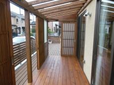 サンデッキ木製建具