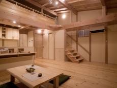 自然素材の家リビング